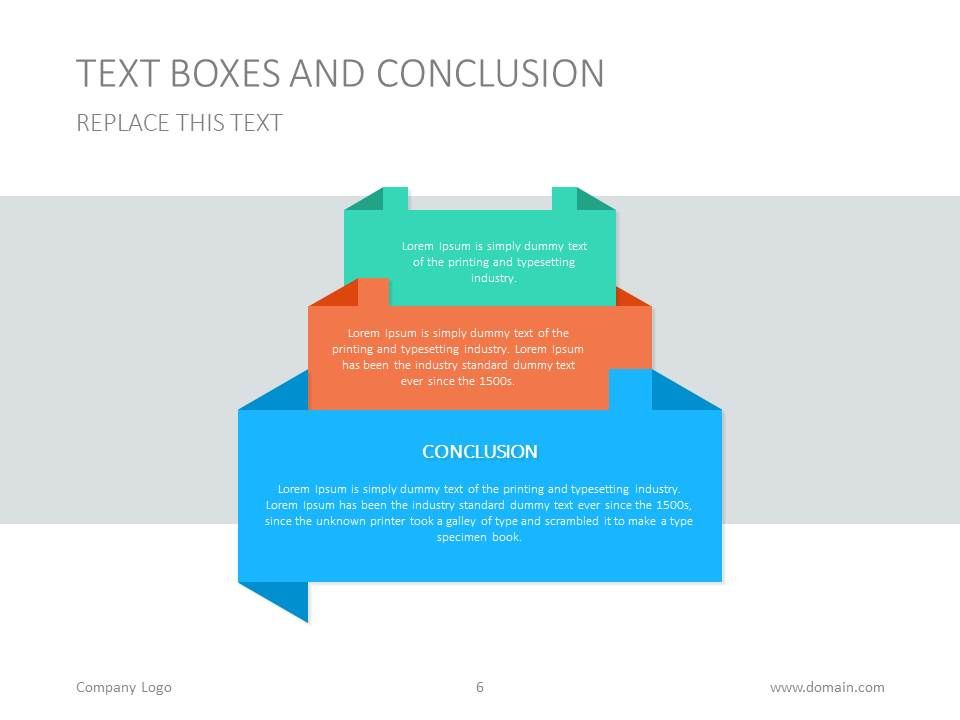 powerpoint text box presentation template presentationdesign
