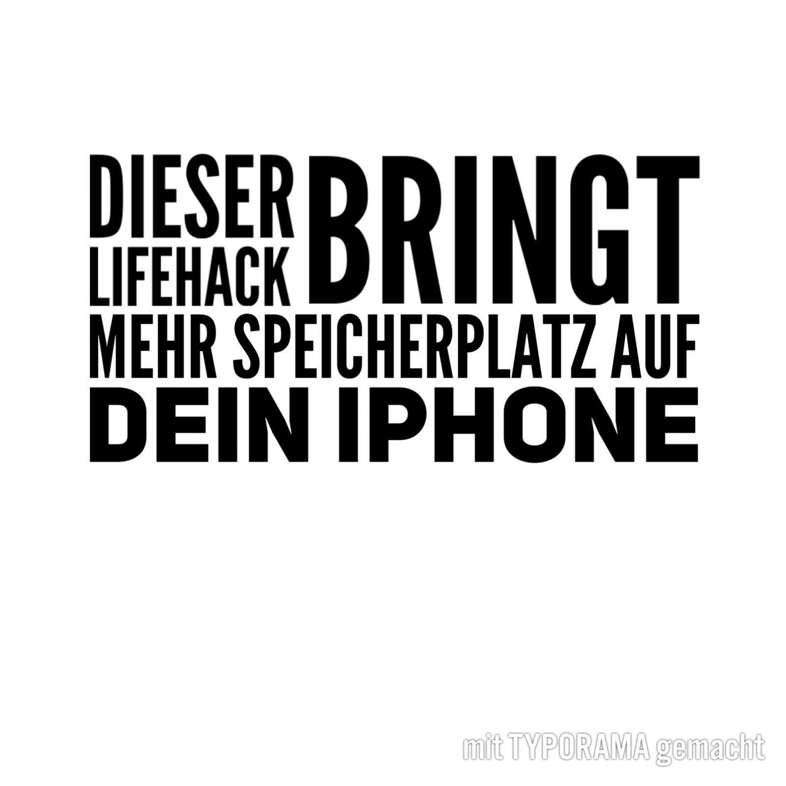 #iphone #speicher #speicherplatz #hack