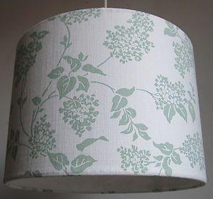 Laura ashley fabric lampshade lilac design eau de nil green on laura ashley fabric lampshade lilac design eau de nil green on cream aloadofball Images