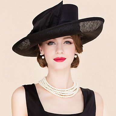 Women's+Flax+/+Fabric+Headpiece-Wedding+/+Special+Occasion+/+Casual+Fascinators+/+Hats+1+Piece+–+USD+$+51.99