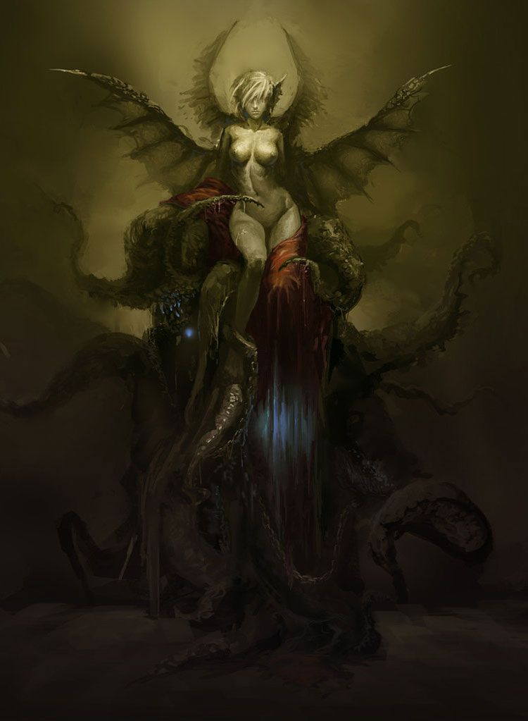 Sexy Fantasy Art | ... the Dragons - Dark Fantasy Art Featuring ...