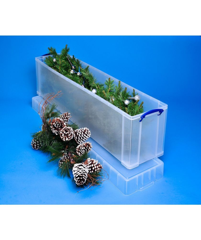 Plastic Christmas Tree Storage Box Fascinating Buy Really Useful 77 Litre Christmas Tree Box At Argoscouk  Your Review