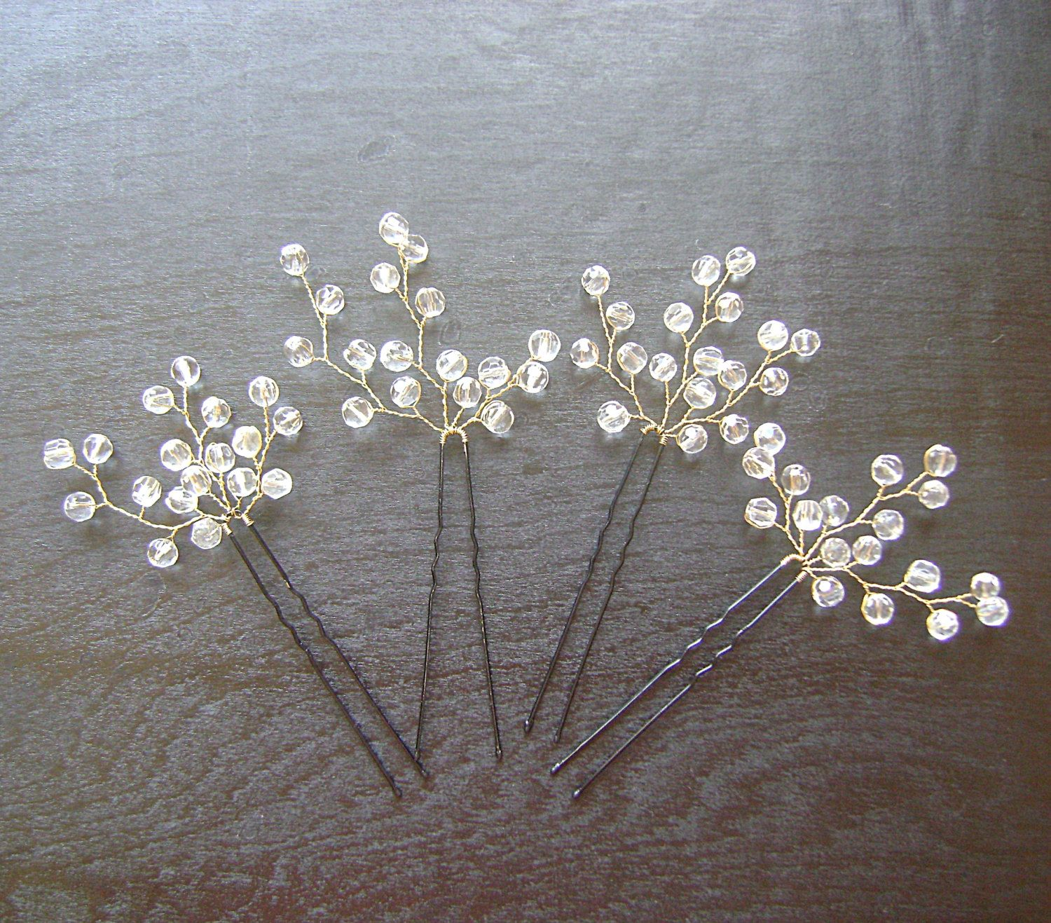 bridal crystals hair pin wedding hair accessories by prettynatali 27 00