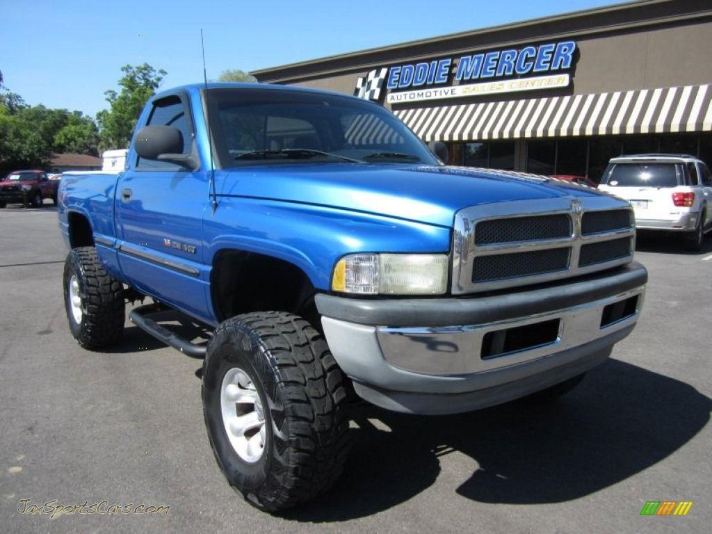 Blue color Dodge Ram Trucks Lifted trucks, Ram trucks