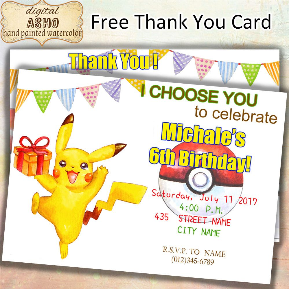pin auf pokémon invitation