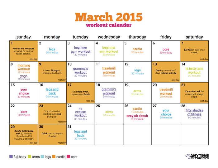 Fun Fit Calendario.Pin On Fitness Health