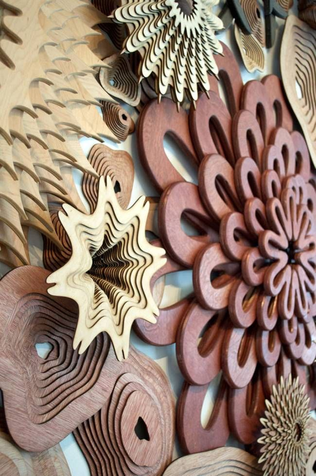 Artist's intricate laser cut sculptures mimic coral reef patterns : TreeHugger - Joshua Abarbanel is the artist.