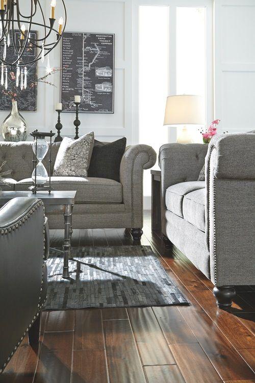 Best Ardenboro Sofa Charcoal Living Room Sofa Furniture 400 x 300