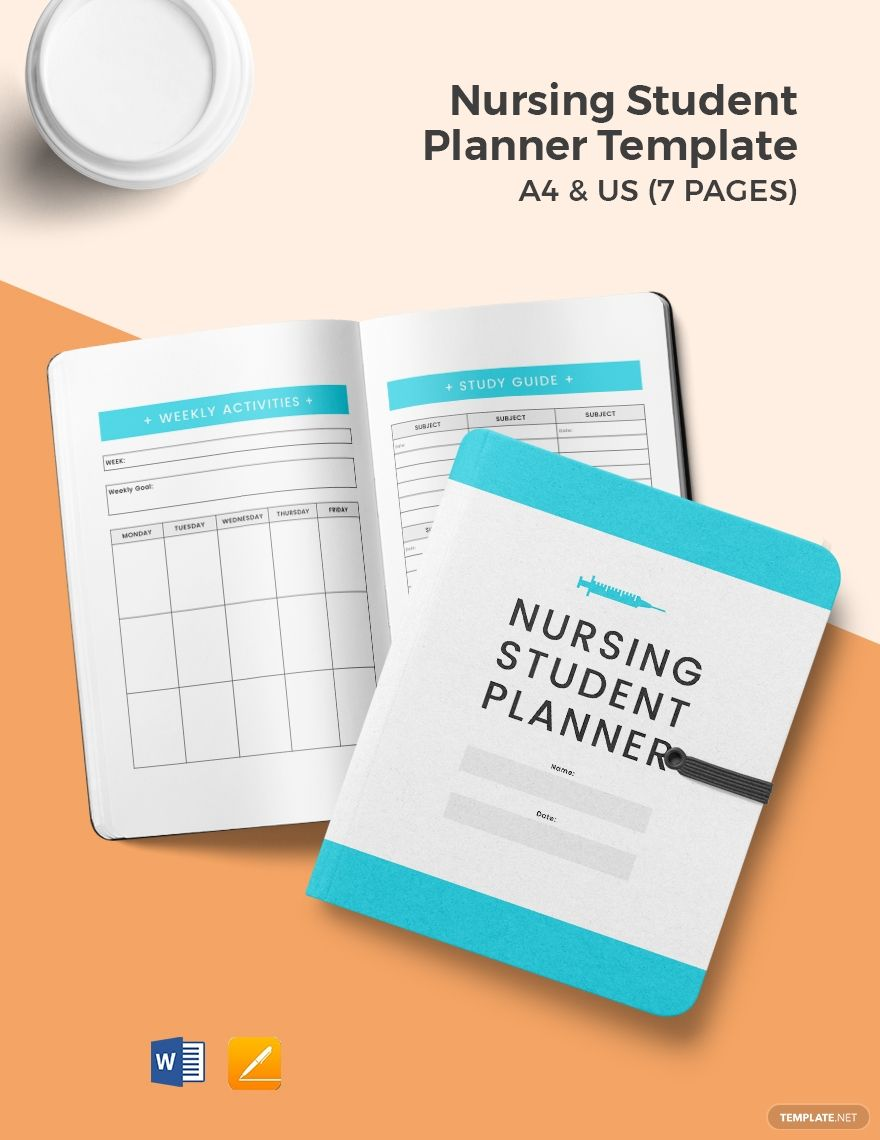 Free Nursing Student Planner Template #nursingstudents