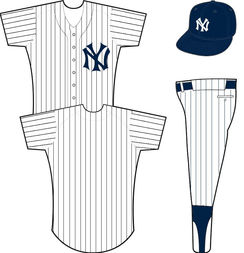 New York Yankees Home Uniform New York Yankees Yankees Uniform