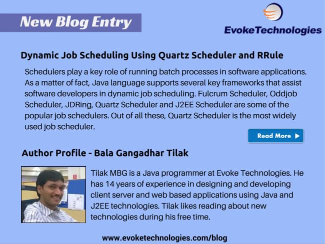 Dynamic Job Scheduling Using Quartz Scheduler and RRule | Website