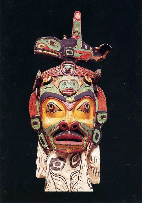 KUMUGWE' (Chief of the Sea) MASK (Collected by George Hunt, 1897)