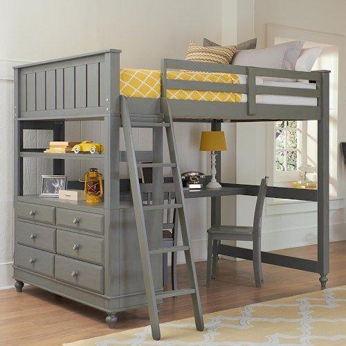 Cottage Day Bed Loft Bed Desk Bunk Bed With Desk Bedroom
