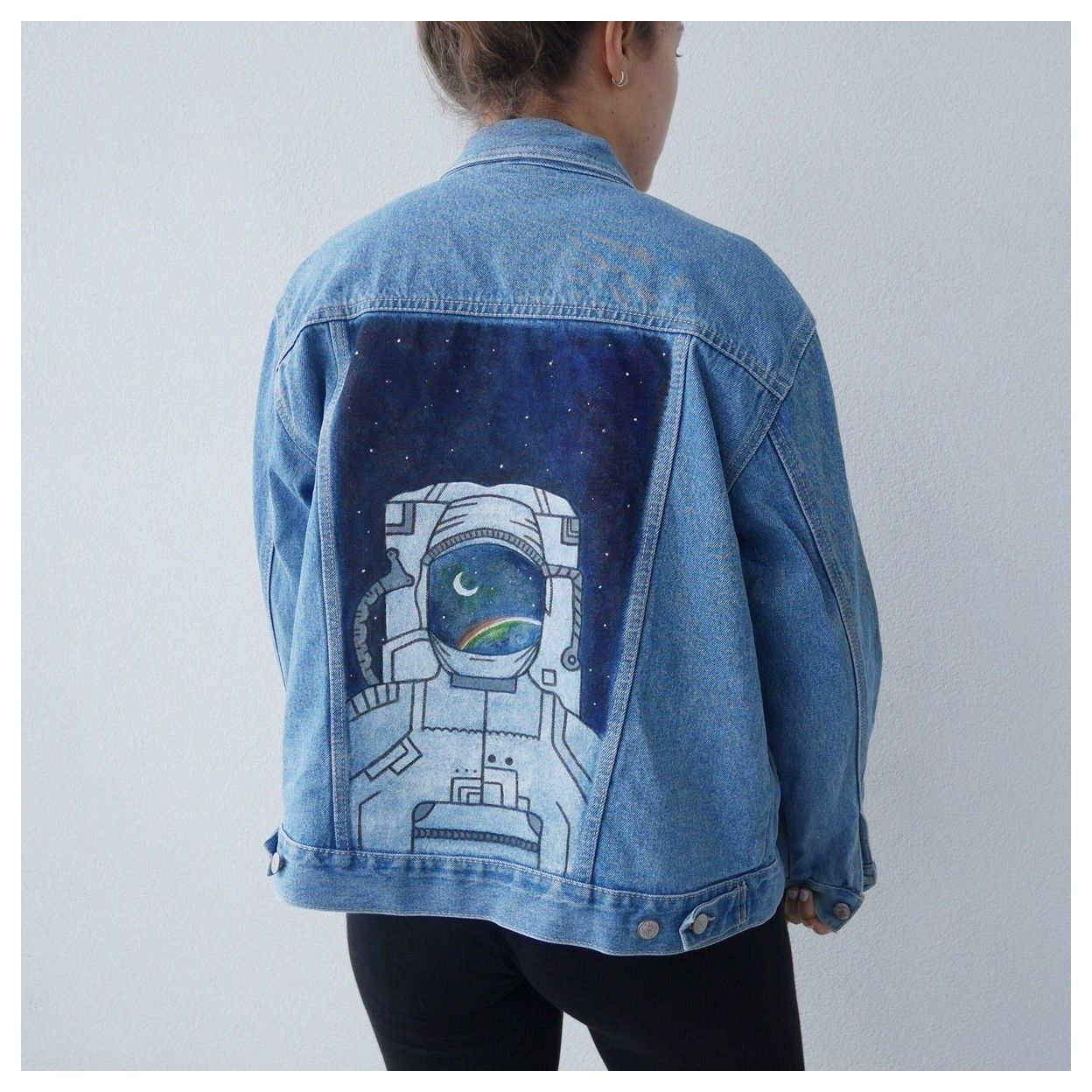 Denim Jacket Art Paint Denimjacketartpaint In 2021 Diy Denim Jacket Painted Denim Jacket Denim Diy [ 1248 x 1248 Pixel ]