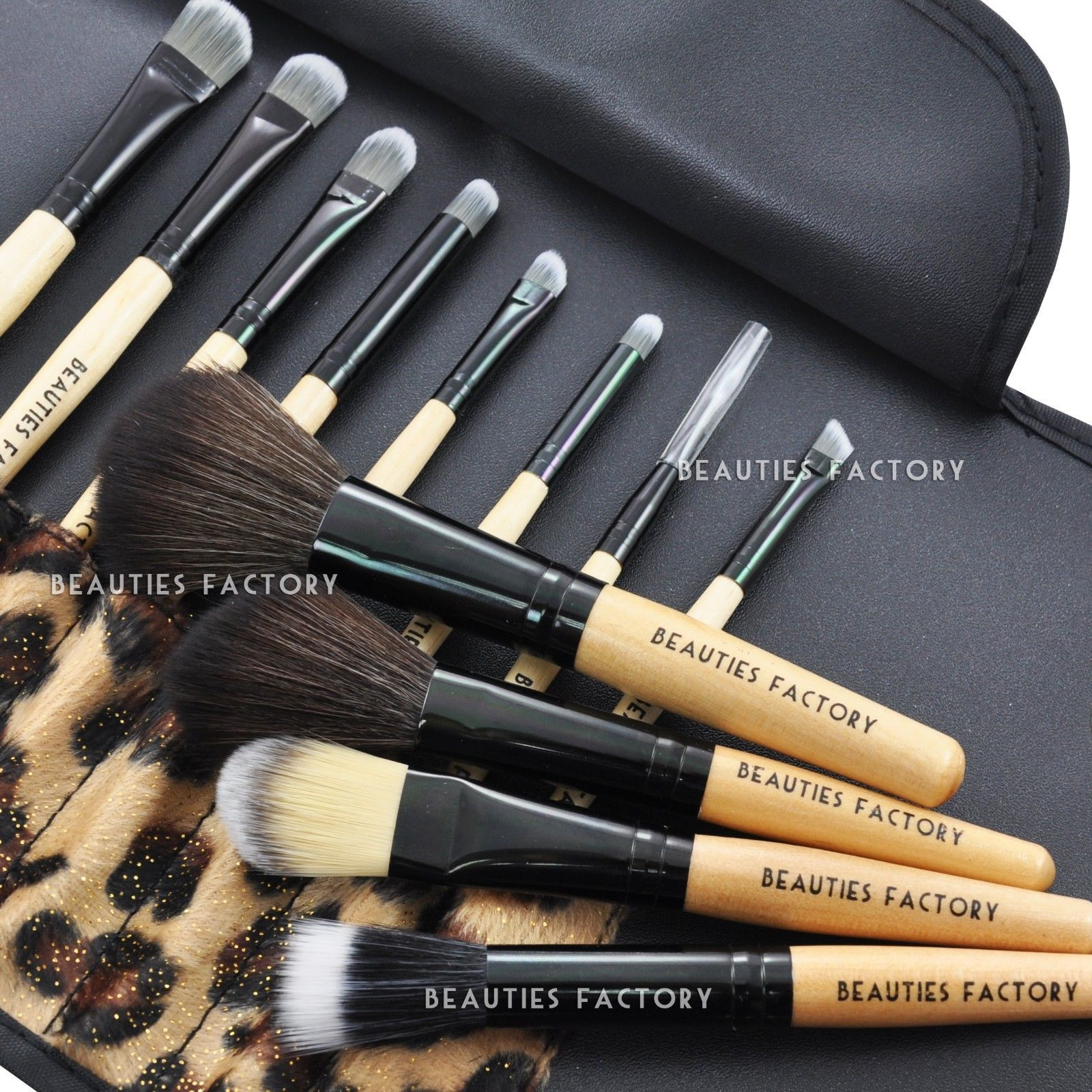 Beauties Factory 12Pcs African Leopard Makeup Brushes Set