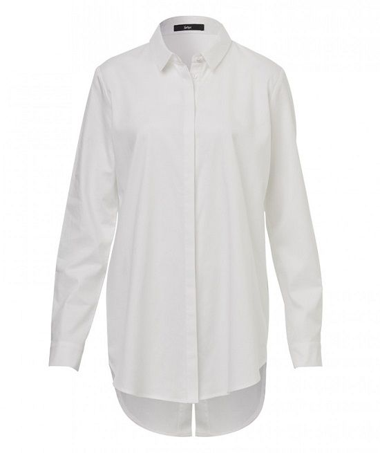 a355c115ad3 SPLIT BACK SHIRT 022842-100 The classic white shirt has been updated with  our split back shirt. This long sleeved man style shirt features concealed  button ...