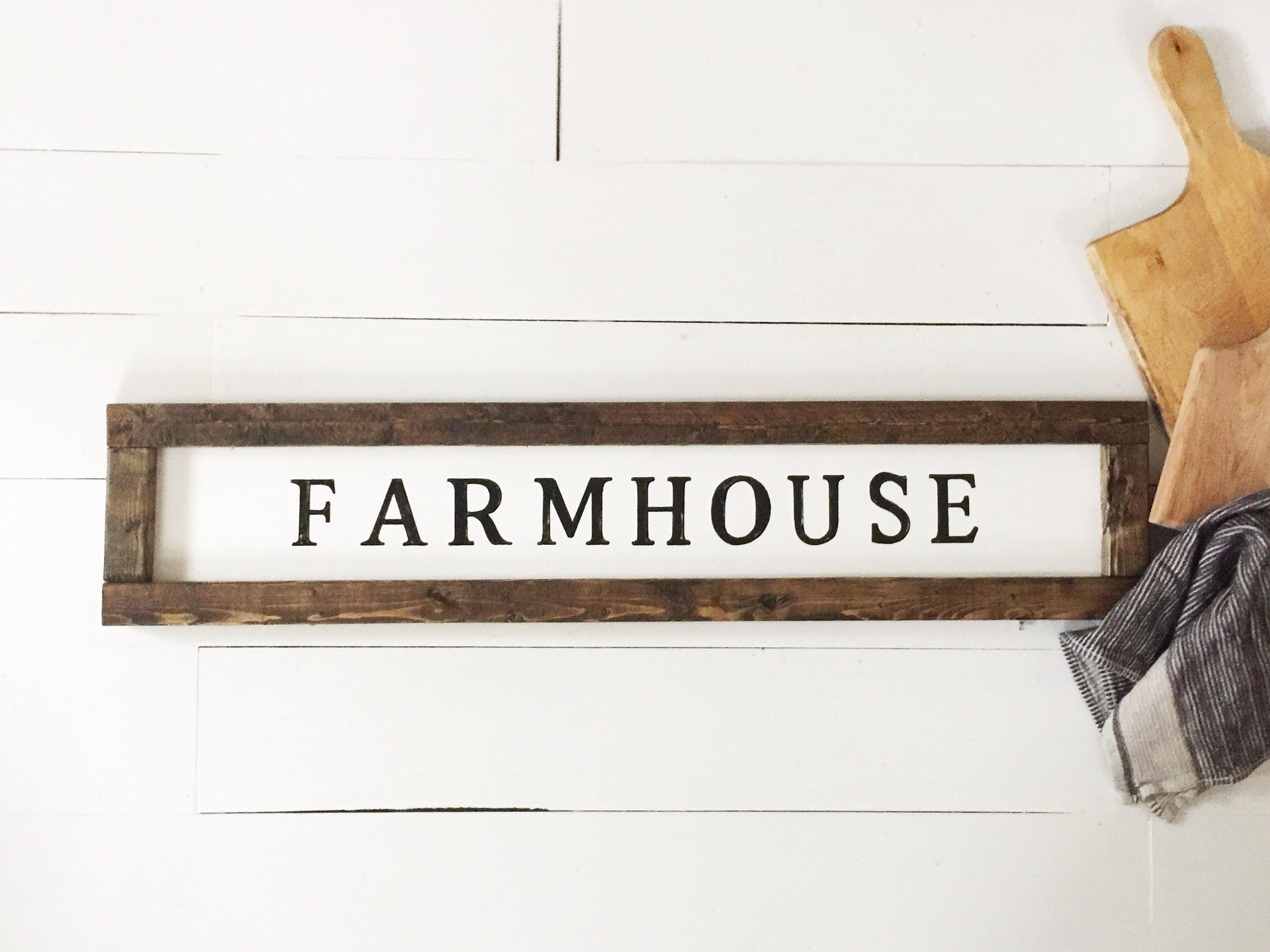 Farmhouse sign large horizontal 4 ft x 6 inch sign
