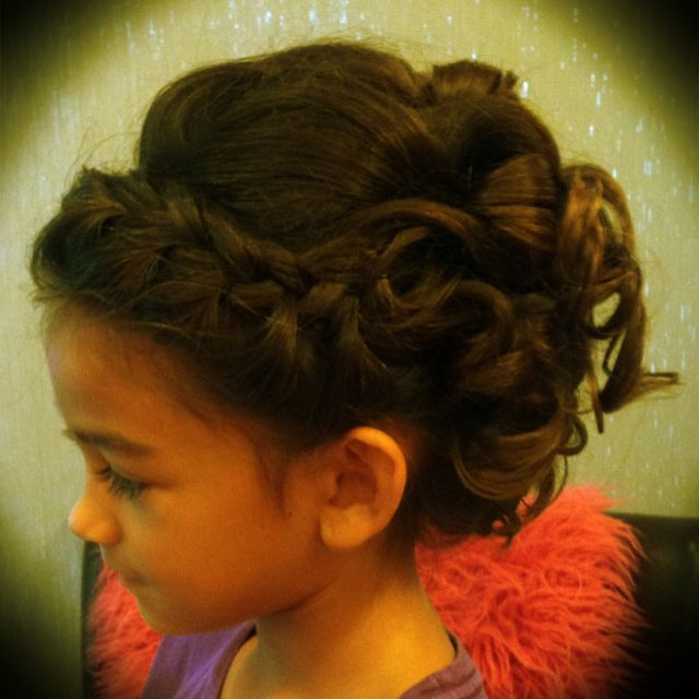 Flower Girl Wedding Hairstyles: Flower Girl Updo- Olivia's Hair For My Sister's Wedding
