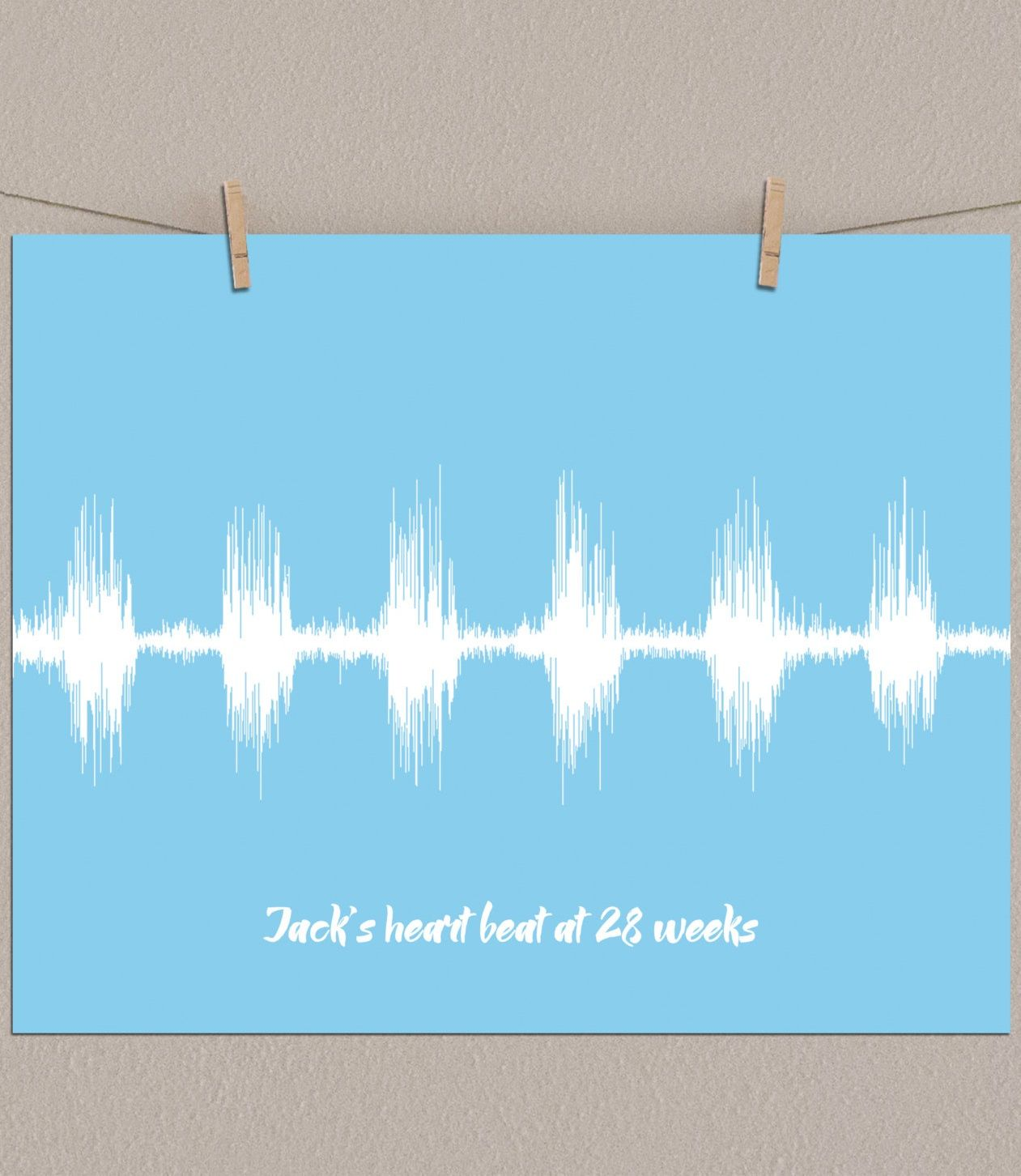 Baby bed heartbeat - Baby Heartbeat Ultrasound Sound Wave Soundwave Heart Beat Art Print Personalized Baby Gift Baby