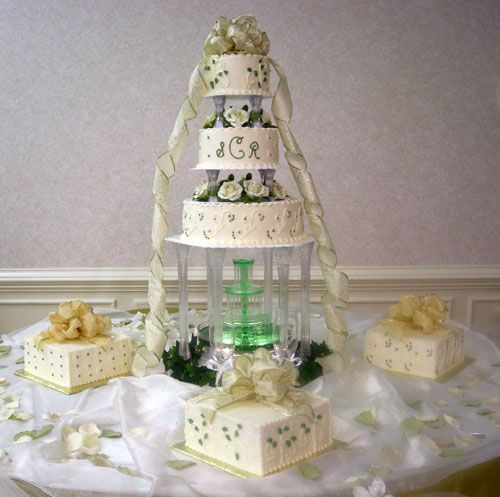 The Most Gorgeous Wedding Cakes With Waterfalls Yahoo Search