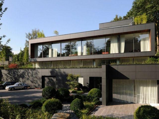 Luxus Villa In Uccle-belgien-moderne Anlage Mit Abstellplatz Und ... Glastrennwand Innengarten Luxus Haus