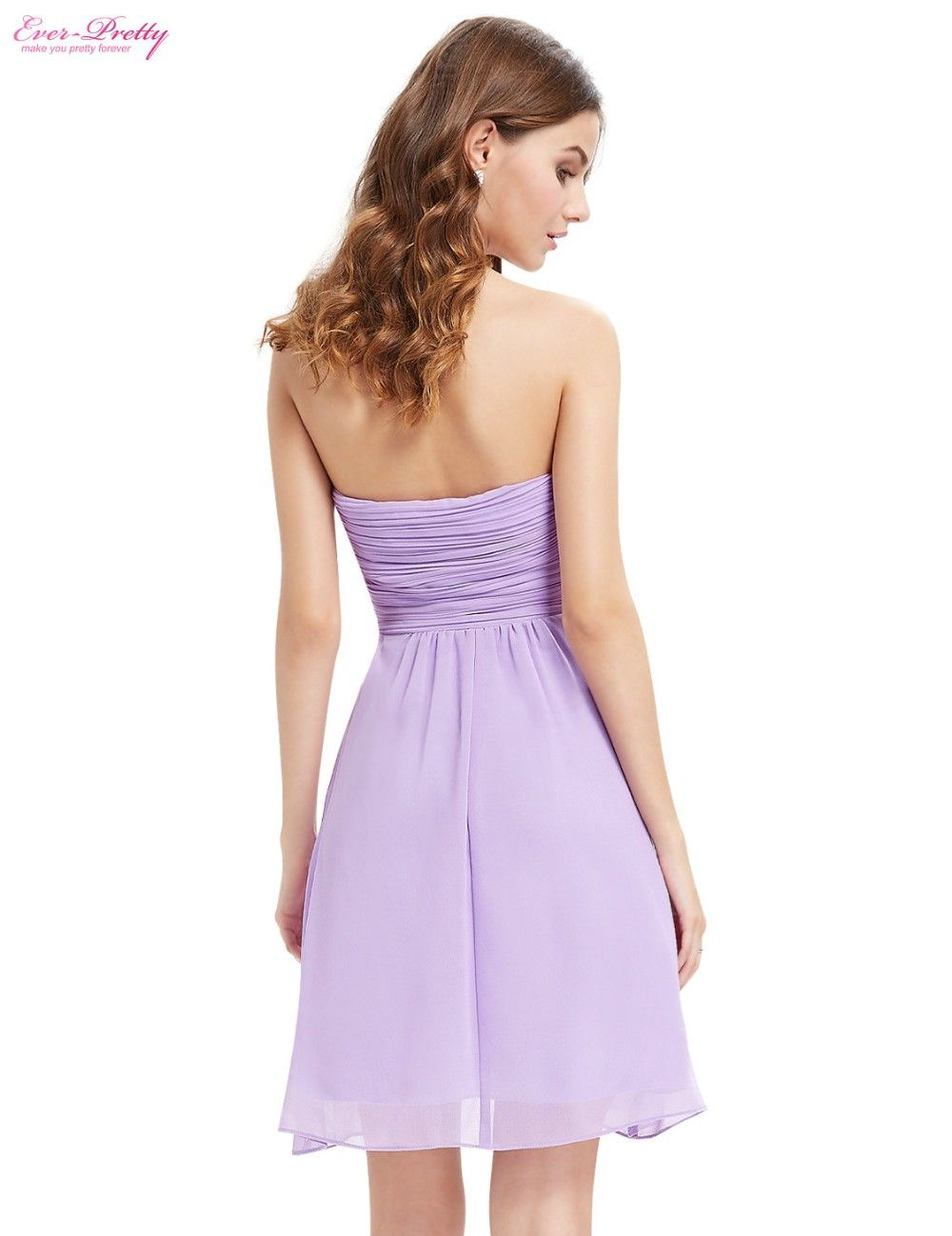 Clearance Sale] Bridesmaid Dress A Line Ever Pretty Blue Coral Short ...