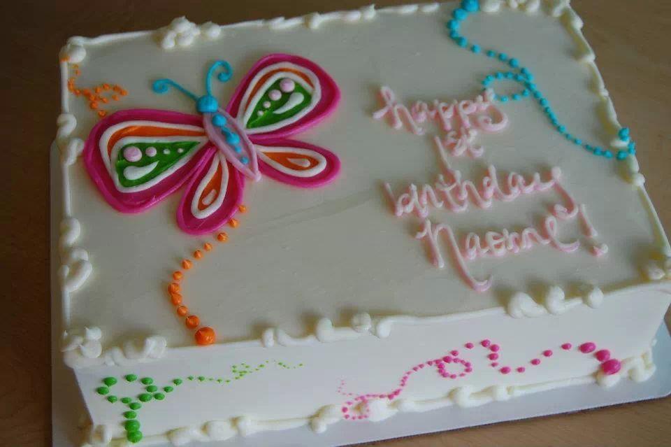 Butterfly Sheet Cake Birthday Sheet Cakes Sheet Cake