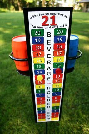 Corn hole Drink Cup Holder Scoreboard ScoreTower COMBO