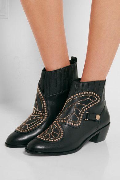 SOPHIA WEBSTER Karina Butterfly Studded Leather Booties lBcRHZfS