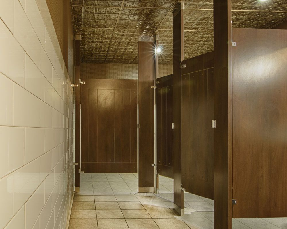 Ironwood Manufacturing Laminate Toilet Partition With Engraved - Laminate bathroom partitions