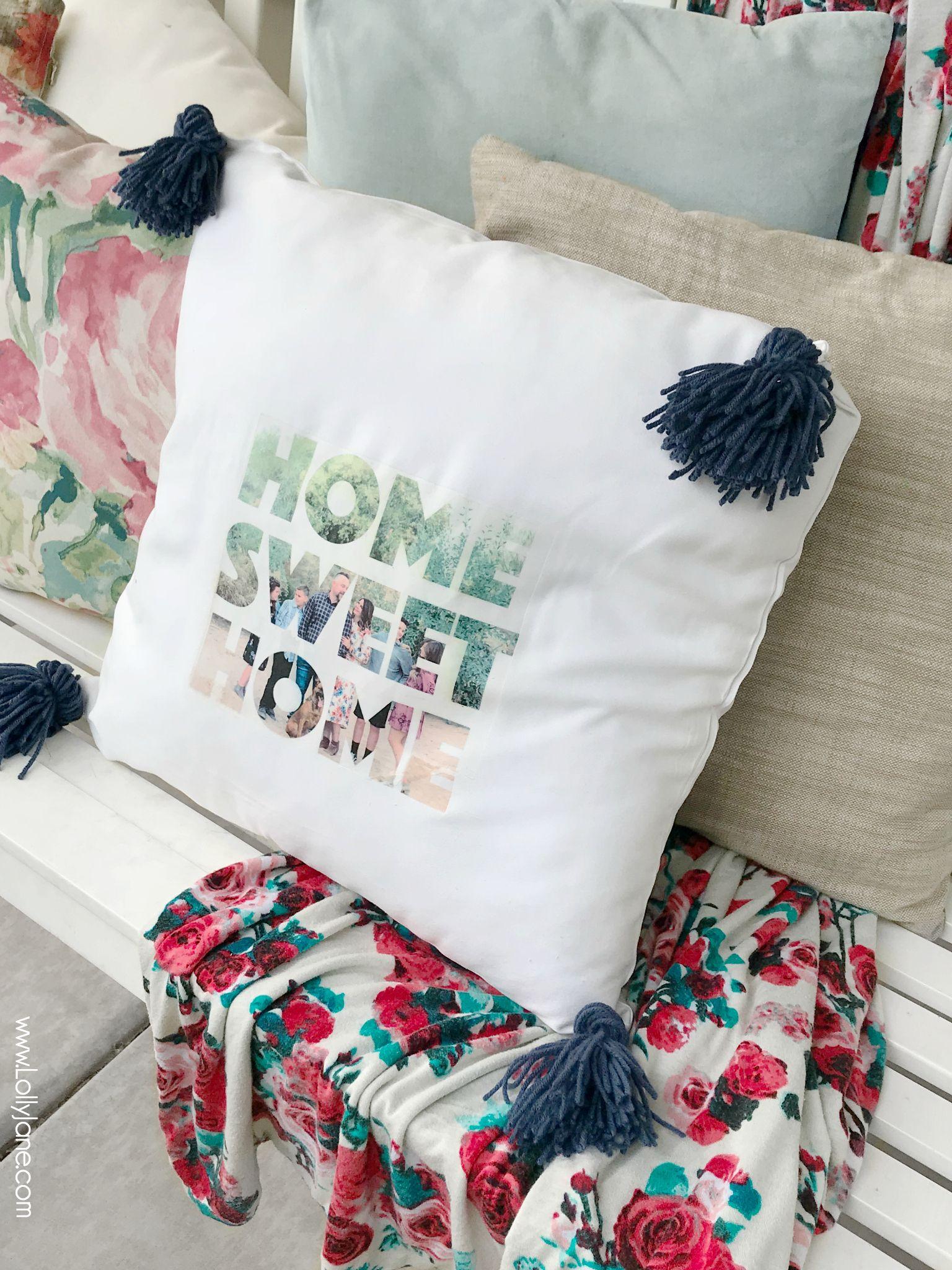 Diy photo text pillow in diy craft ideas pinterest texts