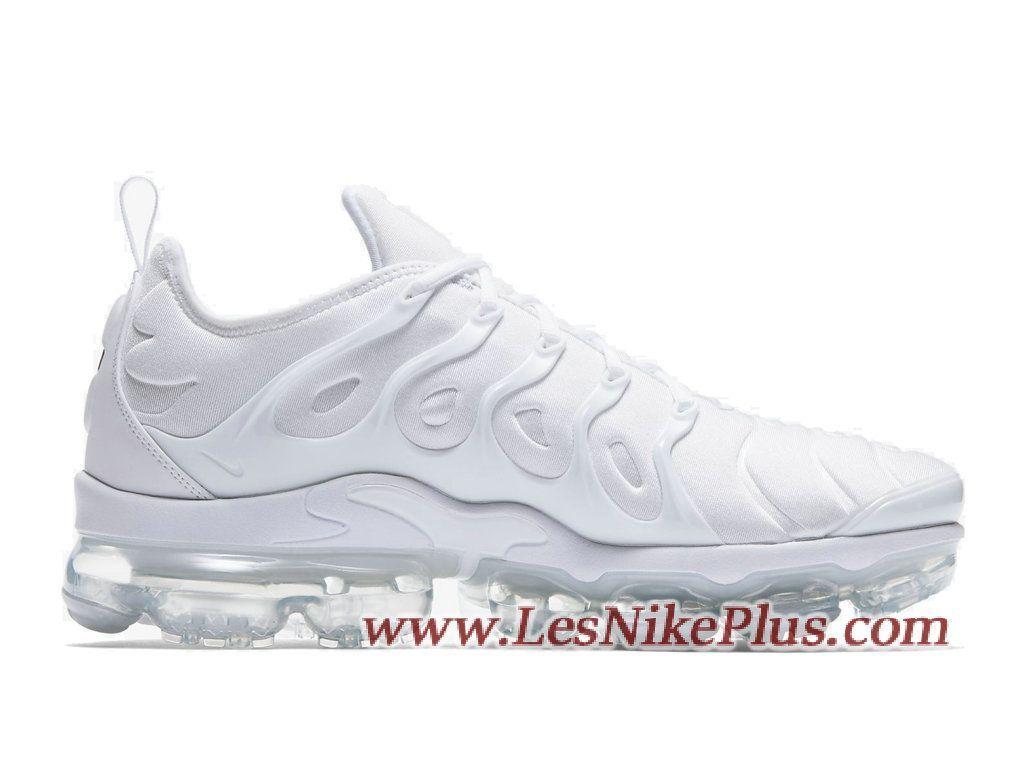 c5d65d3d18 Sneaker Nike Air VaporMax Plus Chaussures Nike 2018 Pas Cher Pour Homme  Triple White 924453-