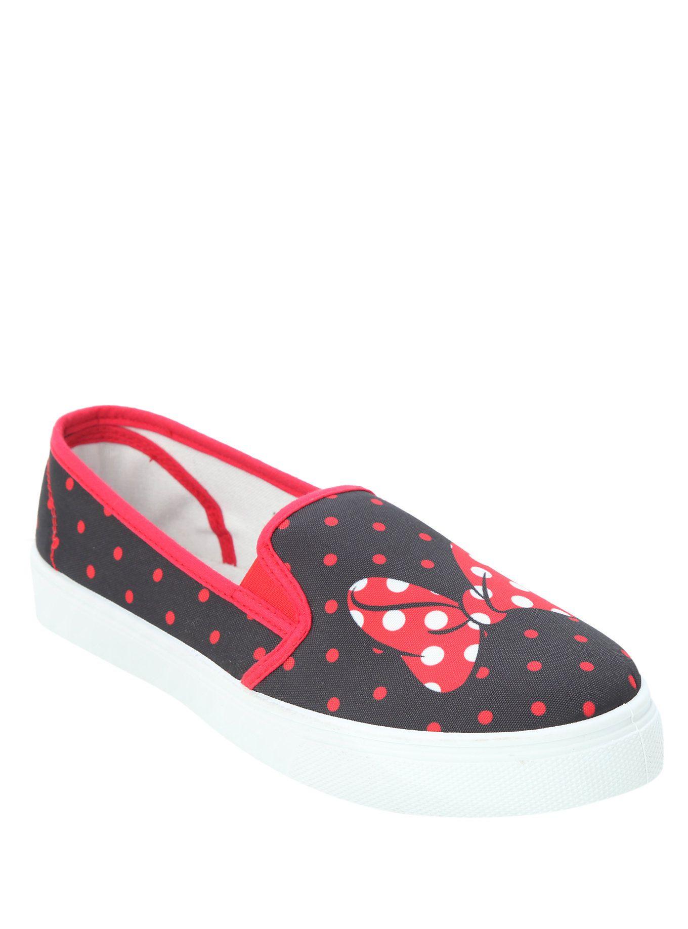 Disney Minnie Mouse Slip-On Sneakers, BLACK