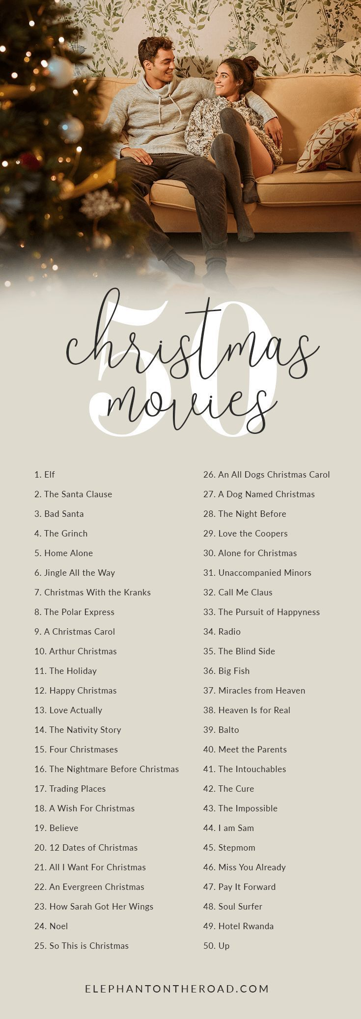 The Most Complete Christmas Movie Guide — Elephant On The Road