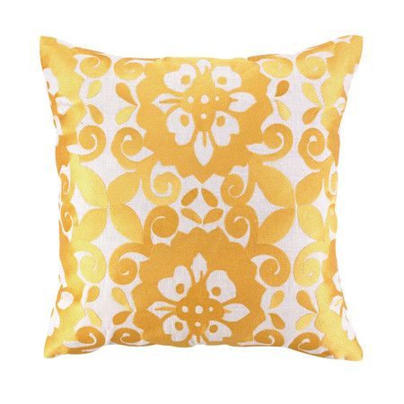 I pinned this Cassandra Pillow in Gold from the Preppy & Plush event at Joss and Main!