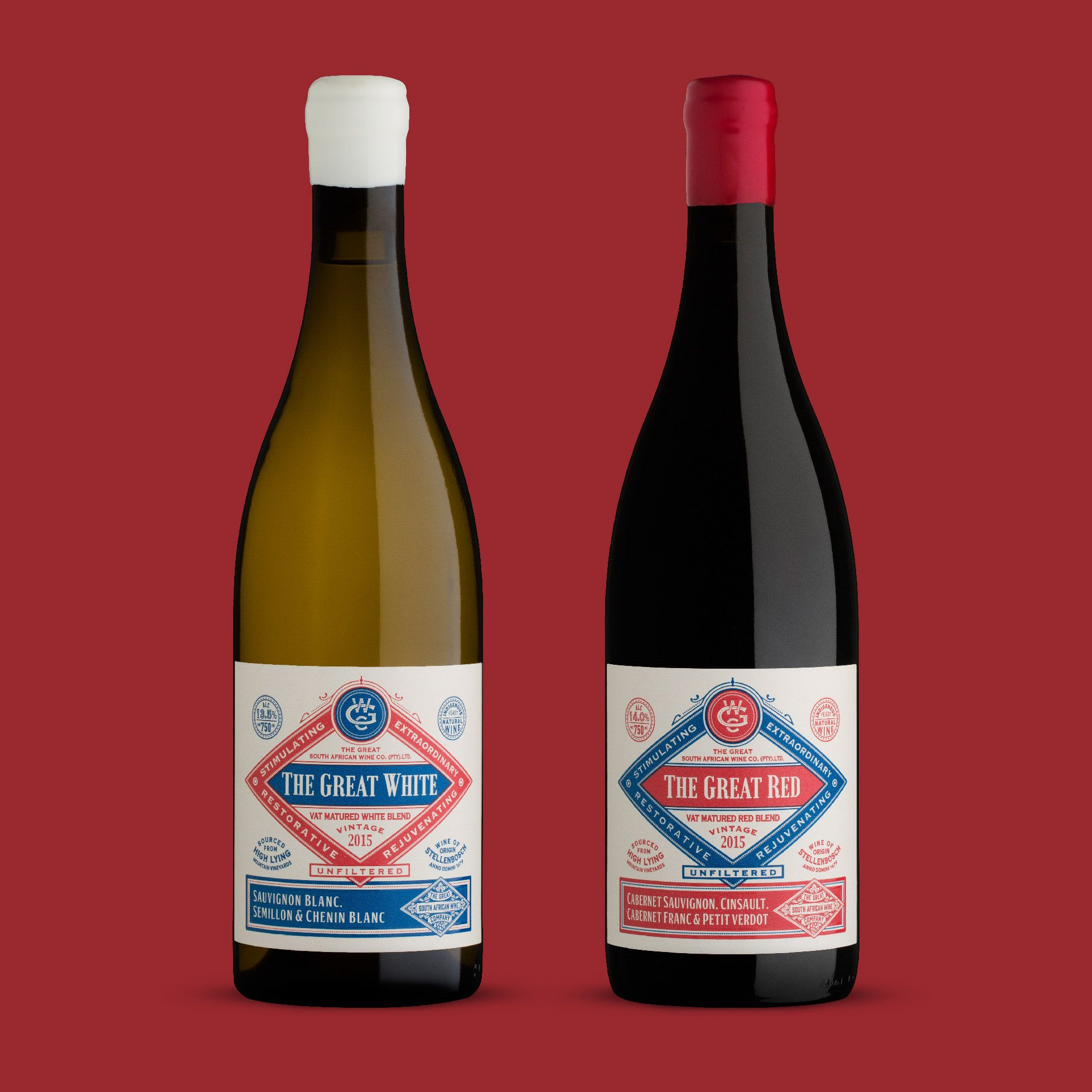 The Great South African Wine Company On Behance South African Wine Australian Wine Labels Wine