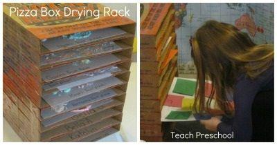 Pizza Box Drying Rack