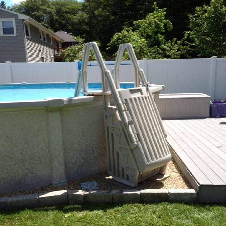 exterior cool above ground pool steps and decks from 3 most wanted above ground