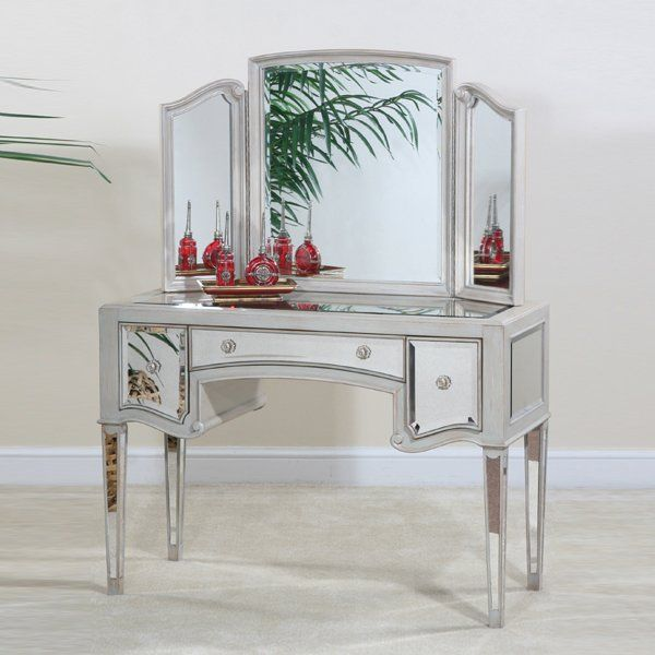Ultimate Accents 65315DT Manhattan Dressing Table Mirror Bedroom - Bedroom Vanity Table