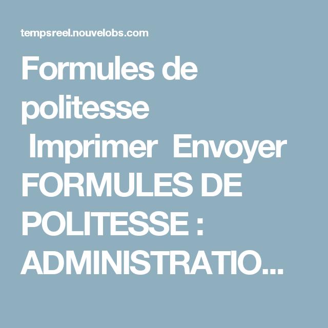 Formules De Politesse Imprimer Envoyer Formules De Politesse