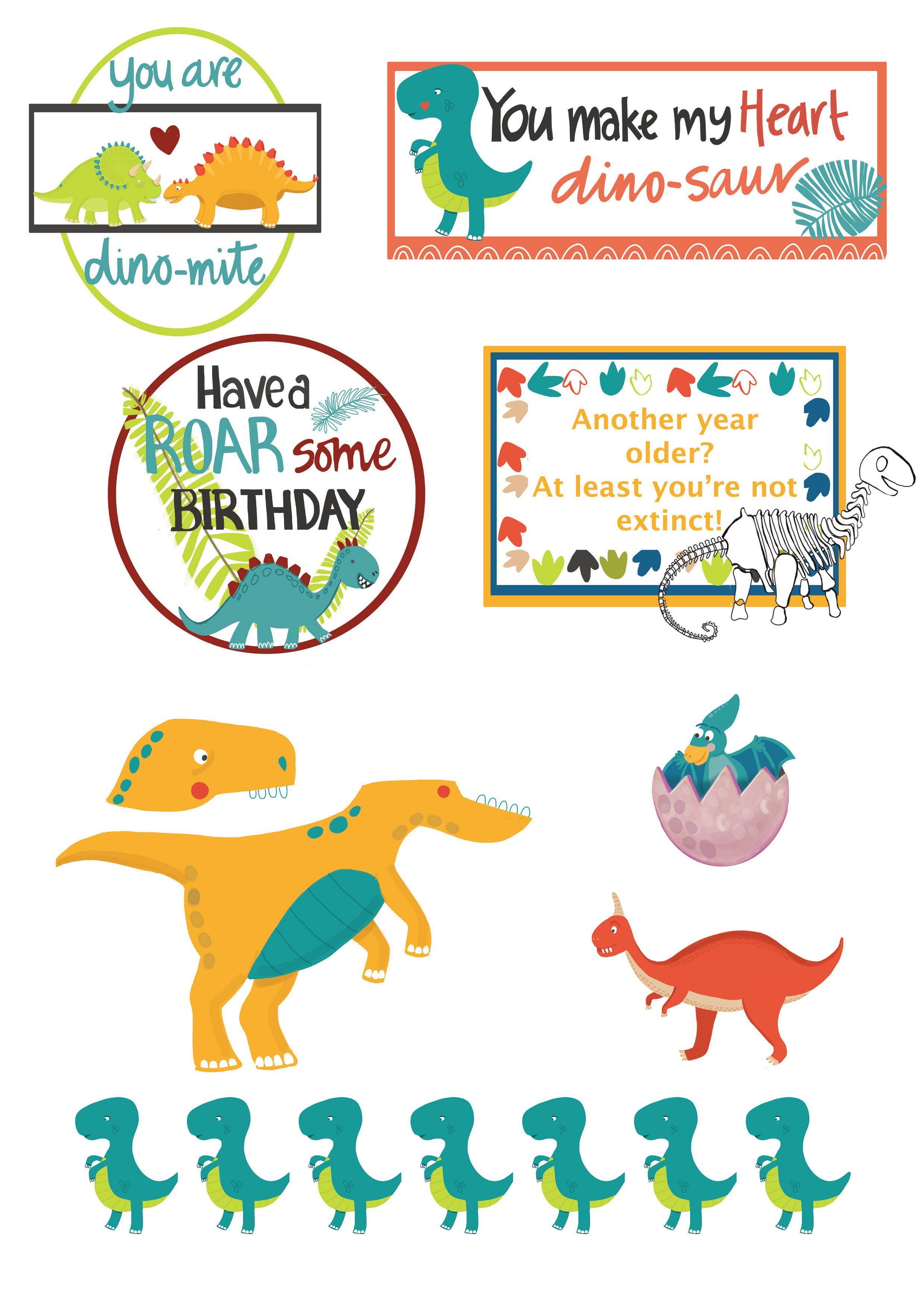 Free Dinosaur Printables From Papercraft Inspirations 187 Papercraft Inspirations Dinosaur Printables Birthday Party Printables Free Free Birthday Printables