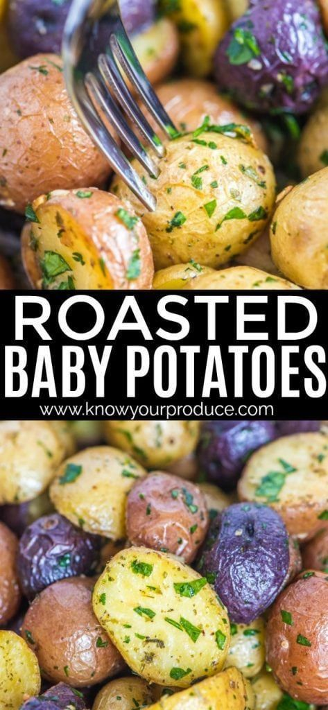 Roasted Baby Potatoes with Garlic and Parsley side dish recipe -