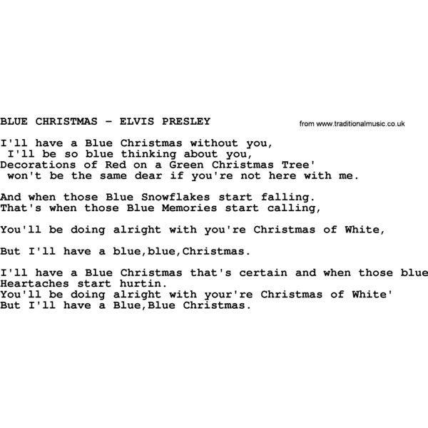 I Wont Be Home For Christmas Lyrics.Blue Christmas Elvis Presley Txt By Elvis Presley Lyrics