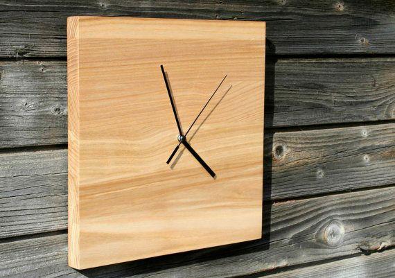 Reloj de pared madera por BAwoodLV en Etsy relog Pinterest - pared de madera