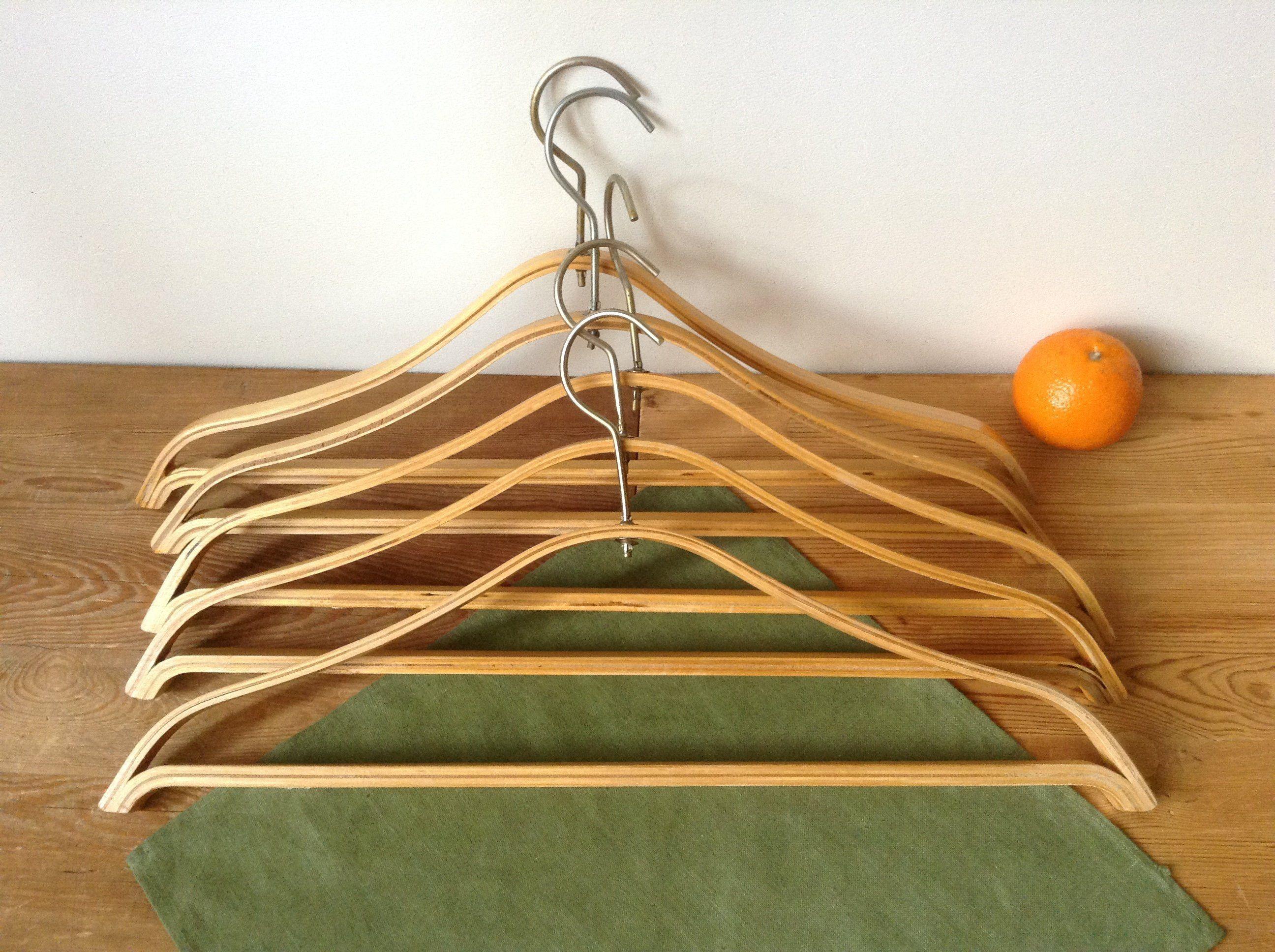vintage wooden clothes hanger