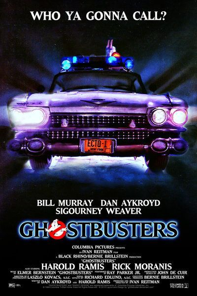 Ghostbusters 1984 Ecto 1 Movie Posters Ghostbusters Movie