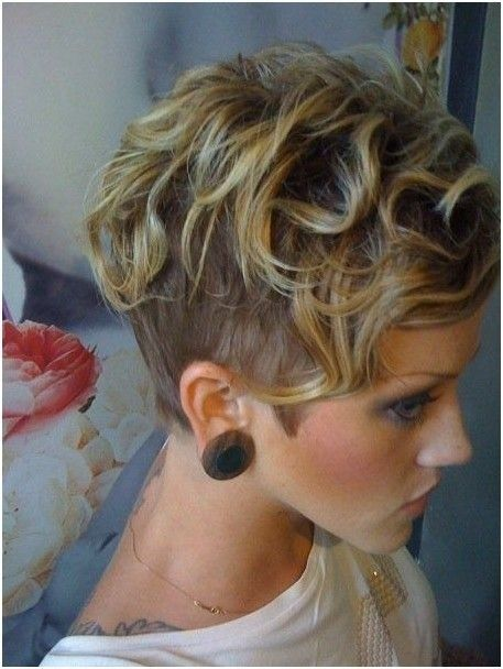 Cool Soft Wavy Curly Hairstyle For Short Hair Short Shaved