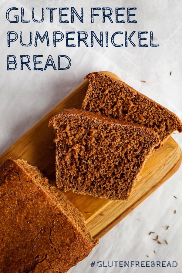 Hearty Gluten Free Pumpernickel Bread In 2020 Gluten Free Recipes Bread Pumpernickel Bread Recipe Gluten Free Yeast Free