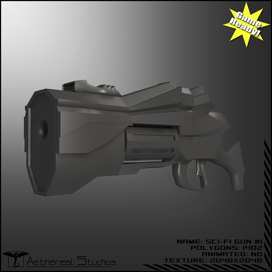Sci-Fi Gun Weapon Pack #Fi, #Sci, #Gun, #Pack   3d Design Model