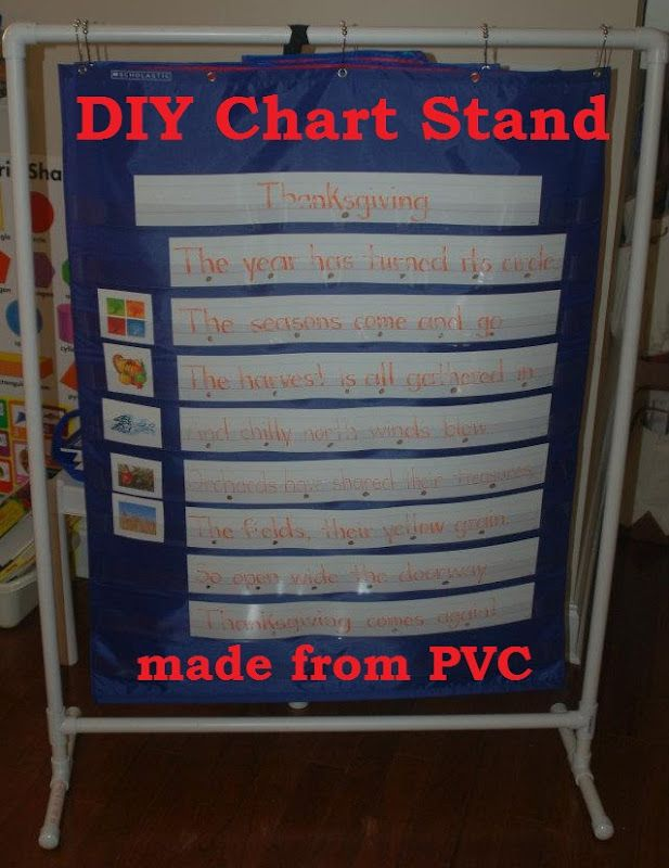 Diy Pocket Chart Stand For Clrooms Homeschools Preschools More In Lieu Of Preschool